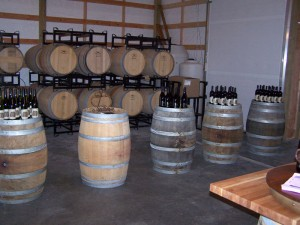 Dusty Cellars Winery barrels